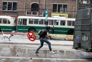 Chile: Manifestação em Santiago reúne centenas de milhares e paralisa o transporte