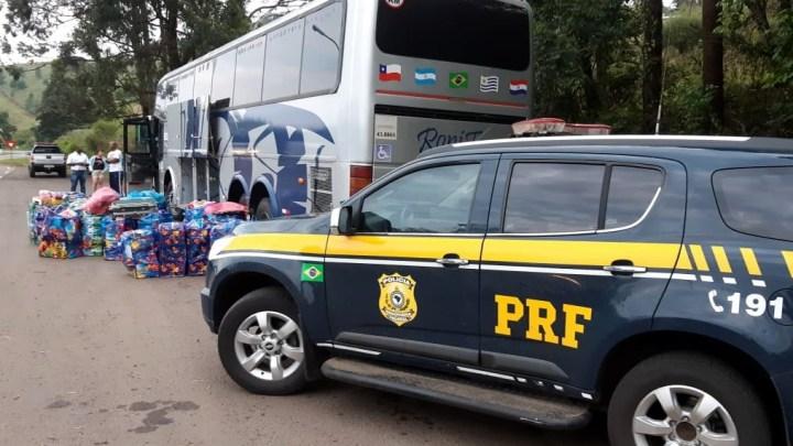 PRF apreende mercadorias contrabandeadas na BR-153