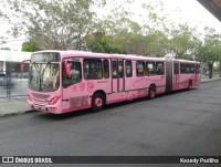 Manaus realiza mobilização contra o câncer com ônibus do outubro rosa