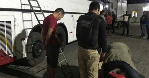 Polícia apreende 147kg de maconha em ônibus na Bahia