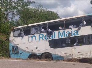Acidente com ônibus da Real Maia pode ter ocorrido por imprudência