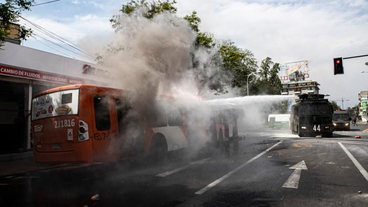 Domingo foi de mais protestos no Chile