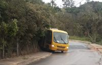 SP: Micro-ônibus escolar sofre acidente em Alumínio
