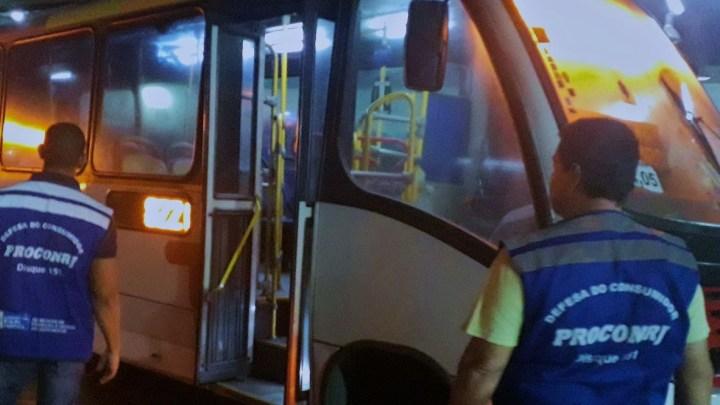 Rio: Procon Estadual fiscaliza veículos da Expresso Pégasos na Zona Oeste do Rio