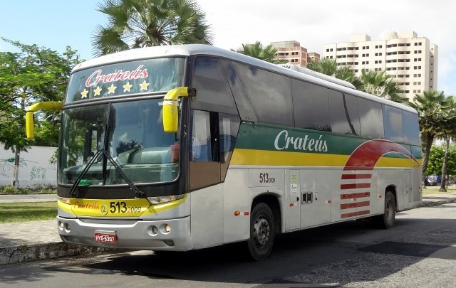 Ônibus da Rápido Crateús pega fogo no interior do Ceará