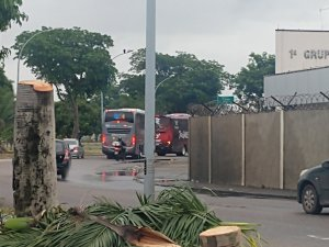 Rio: Ônibus do Flamengo já estão no Aeroporto do Galeão