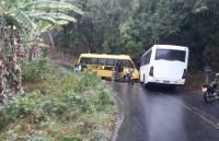CE: Acidente entre dois micro-ônibus deixa um motorista ferido
