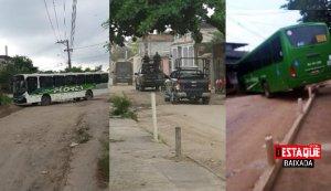 RJ: Bandidos usam ônibus como barricada durante operação da PM em Belford Roxo