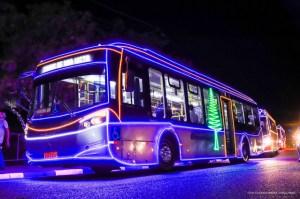 Ônibus com decoração especial de Natal entram em circulação em Boa Vista