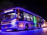 Trenóbus fará passeios com crianças em decoração natalina de Boa Vista