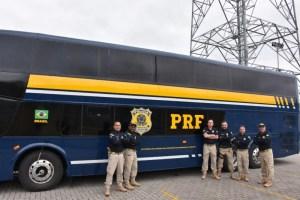 PRF recebe ônibus para ações educativas nas rodovias federais do RJ