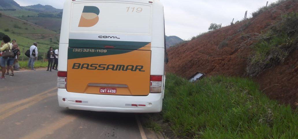 MG: Ônibus da Viação Bassamar perde freio na Serra de Taruaçu