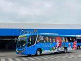 RJ: Viação Nossa Senhora do Amparo adesiva ônibus com o tema do natal