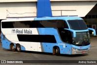 Ônibus da Real Maia pega fogo no interior do Maranhão