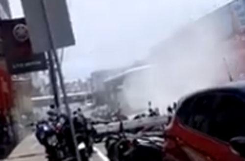 BA: Fumaça em ônibus causa pânico em passageiros de Vitória da Conquista