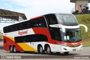 Viação Regional renova com ônibus Double Deck 8x2