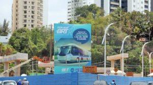 Obras do BRT Salvador alteram itinerários de linhas de ônibus