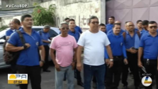 Rodoviários da Transportes São Luiz realizam paralisação em Belém nesta manhã de quarta-feira 8