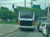 Sábado começa com problemas na operação com ônibus do BRT Rio