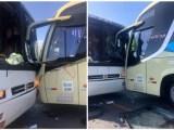 Acidente com ônibus da Novo Horizonte na MT-251 chama atenção na manhã deste domingo 19