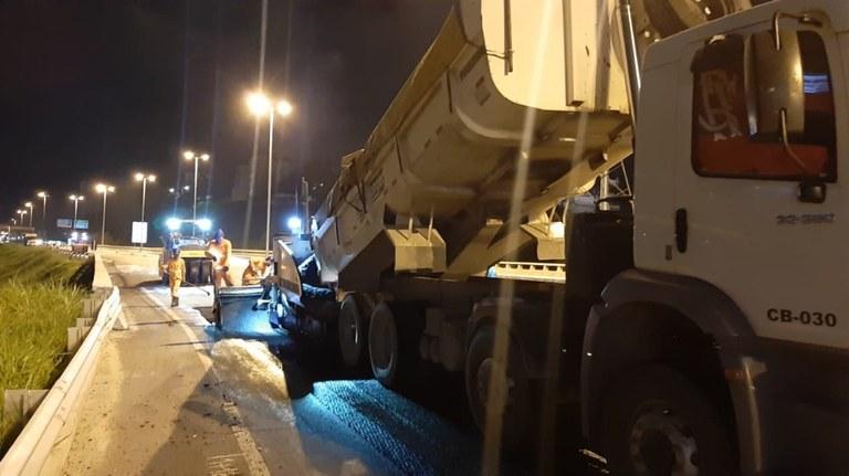 SC: DNIT retomou esta semana as obras na Via Expressa de Florianópolis
