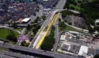 Rio: Avenida Brasil terá uma faixa interdita para limpeza do canteiro central das obras da Transbrasil