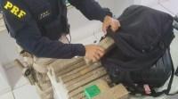 MS: PRF apreende 15 kg de maconha com passageiro de ônibus em São Gabriel do Oeste