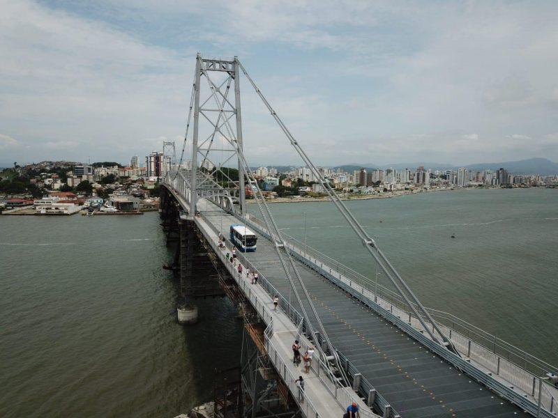 SC: Ponte Hercílio Luz é incluída na rota de mais quatro linhas de ônibus