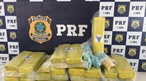 BA: PRF apreende 1.500 comprimidos de ecstasy e 20 kg de maconha em ônibus de passageiro na BR-116