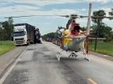 MG: Acidente entre caminhão e ônibus deixa duas pessoas mortas e 18 feridos na BR-365