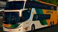 Simulador de ônibus mostra ônibus DD da Viação Gontijo
