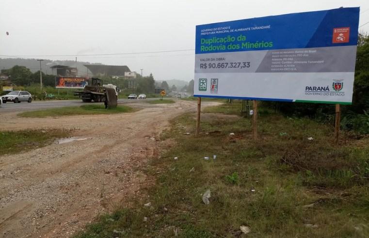 PR: Duplicação da Rodovia dos Minérios vai afetar o trânsito