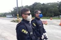 Porto Seguro: Governo da Bahia e PRF realizam fiscalização na BR-367 para tentar conter o coronavírus