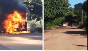Ônibus é incendiado em Vila Velha neste domingo