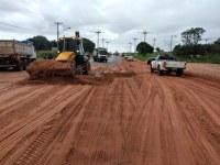 DNIT inicia serviços de manutenção no trecho urbano da BR-163 em Santarém/PA