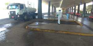 Terminal Rodoviário de Teresina passa por desinfecção preventiva