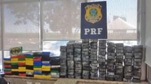 Vídeo: PRF encontra farto material entorpecente em ônibus na BR-277 no interior do Paraná
