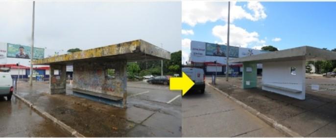 DF: Paradas de ônibus são revitalizadas e limpas