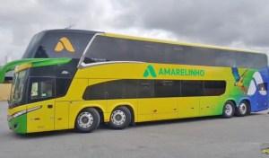 Viação Amarelinho surge com novo ônibus DD