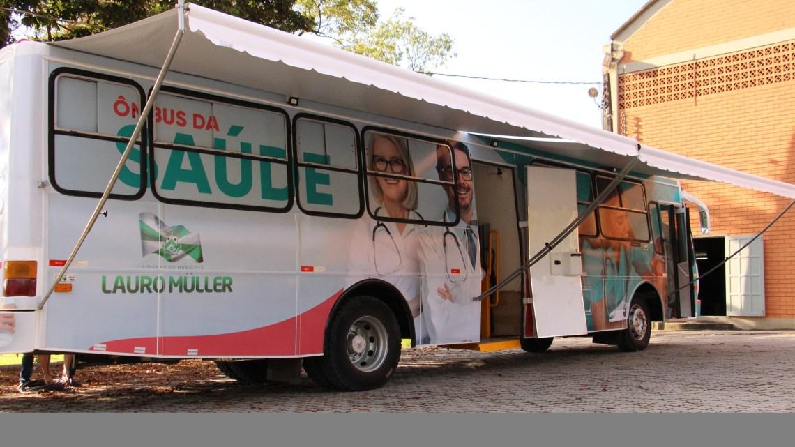 SC: Ônibus de Saúde encerra atendimentos no terminal rodoviário da cidade de Lauro Müller