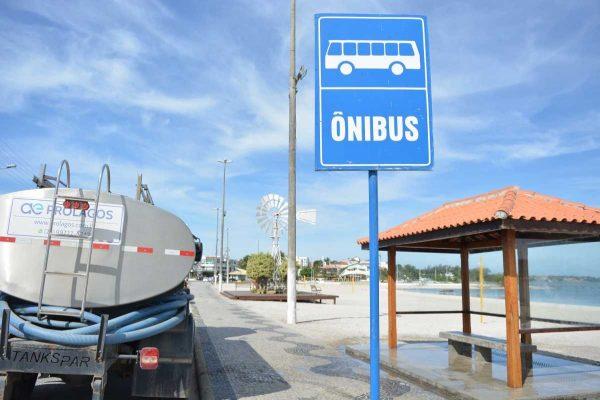 RJ: Prefeitura de São Pedro da Aldeia realiza limpeza e higienização em pontos de ônibus