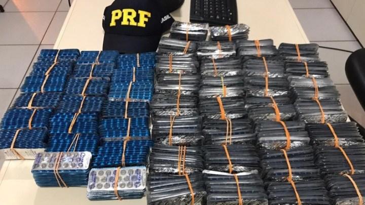 MS: PRF apreende 20 mil medicamentos com passageiro de ônibus na BR-163