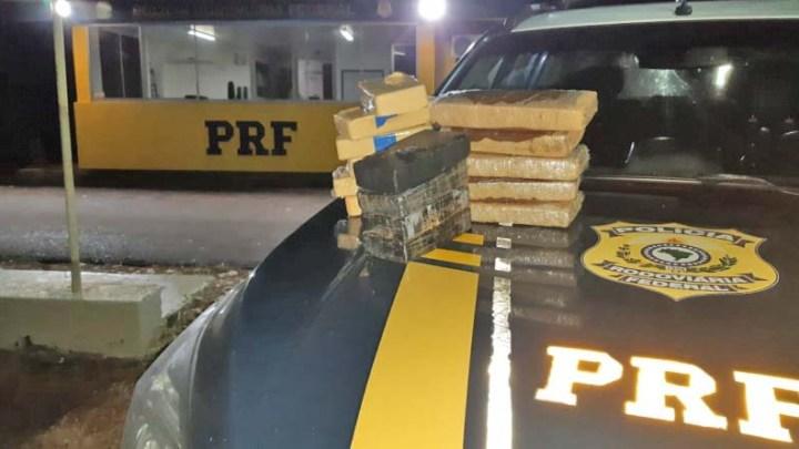 RS: Mulher acaba presa transportando 14 quilos de entorpecente em ônibus na BR-287