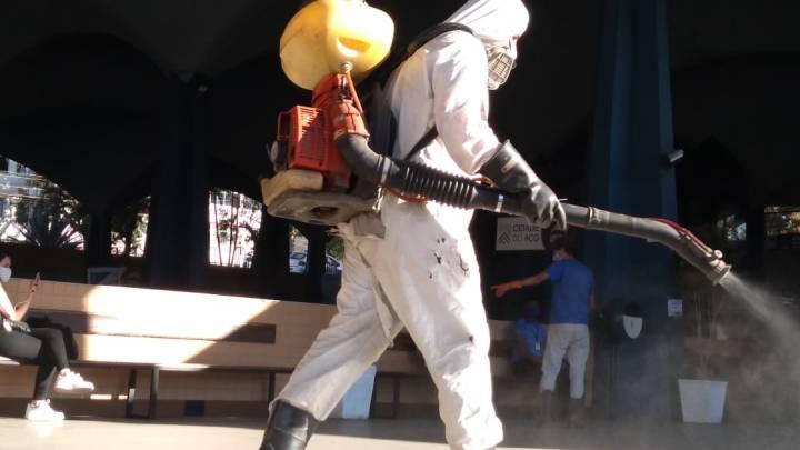 RJ: Rodoviária de Volta Redonda passa por processo de sanitização