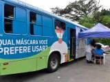 Cubatão: Ônibus da Covid-19 esteve no bairro Cota 200 para testagem