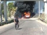 Vídeo: Ônibus da Transportadora Tinguá pega fogo no Trevo das Margaridas no Rio de Janeiro