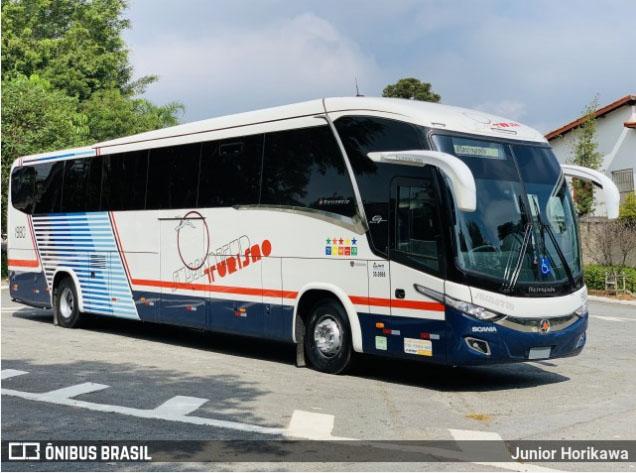 Sussantur celebra 40 anos  com pintura Retrô em novo ônibus
