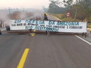 PA: Índios Kayapó bloqueiam a BR-163 nesta segunda-feira