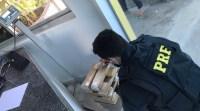 TO: PRF apreende 15 kg de entorpecentes com passageiro de ônibus na BR-153