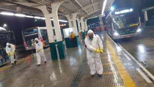São Paulo reforça serviço de higienização nos terminais de ônibus